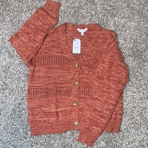 Time and True pointelle v-neck cardigan size Large